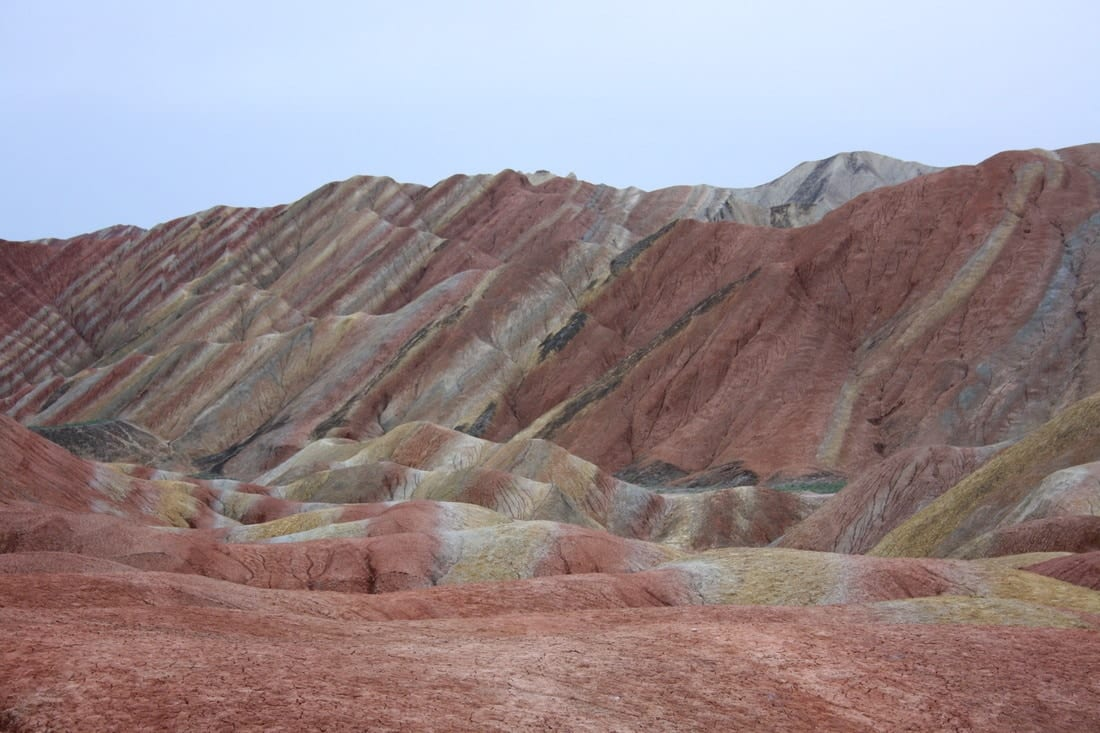 Danxia Shan park Zhangye colorful mountains