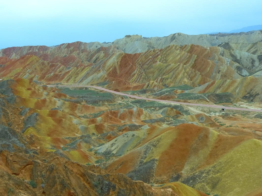 Zhangye Danxia Shan, Rainbow mountains