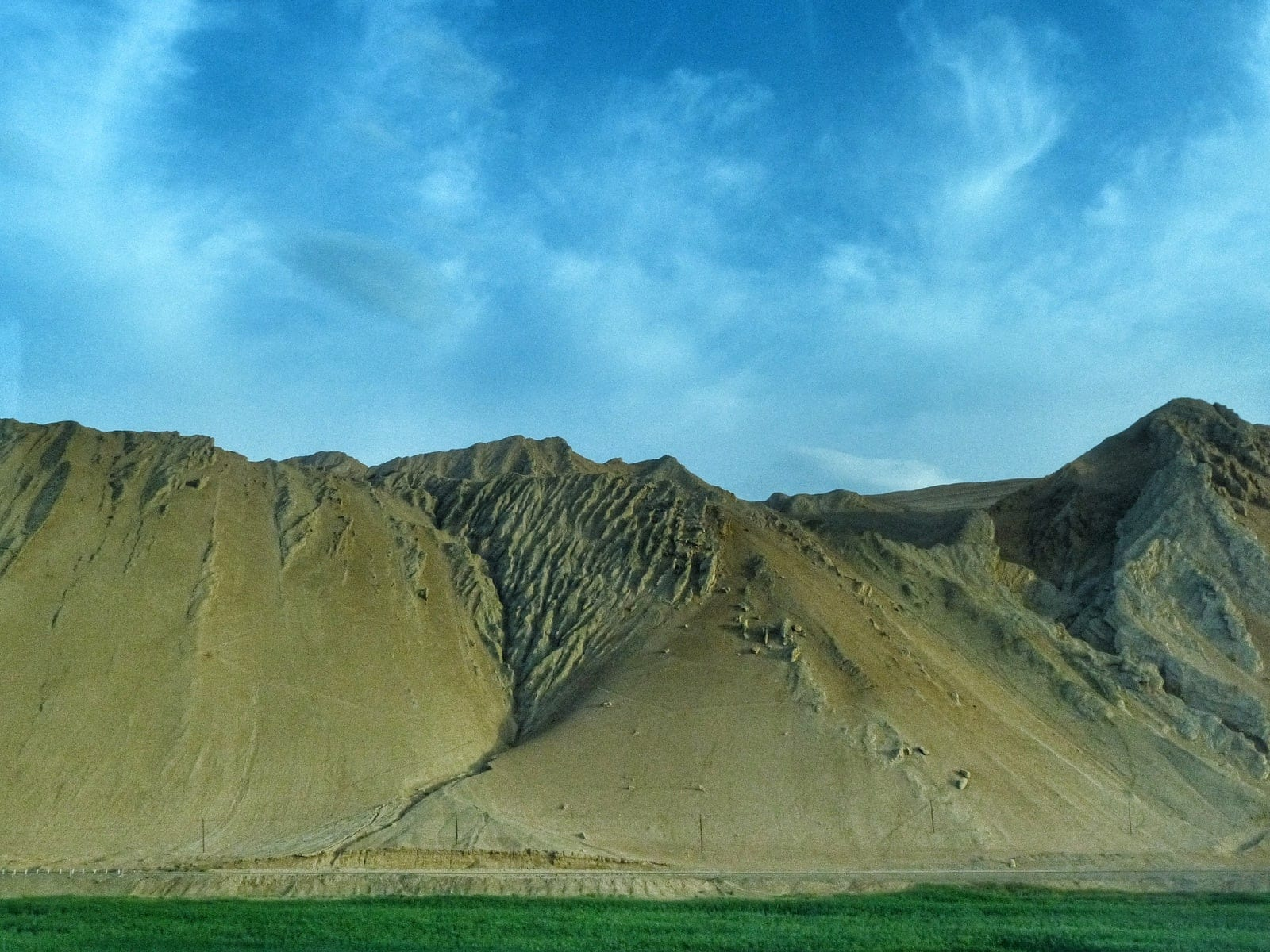 flaming mountains nearby Turpan