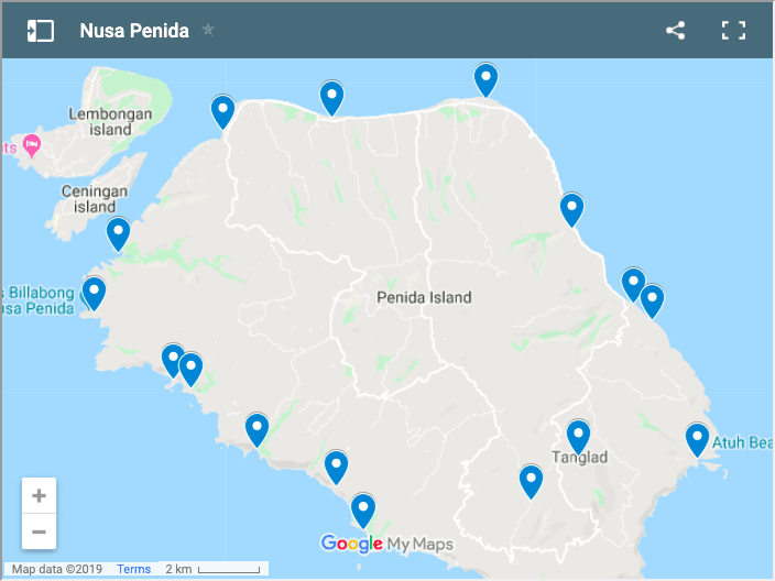 Nusa Penida Itinerary Things to Do Map