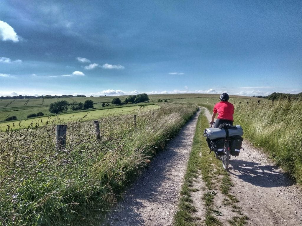 The Thrill of the Trail - Challenging the South Downs Way fully loaded 8