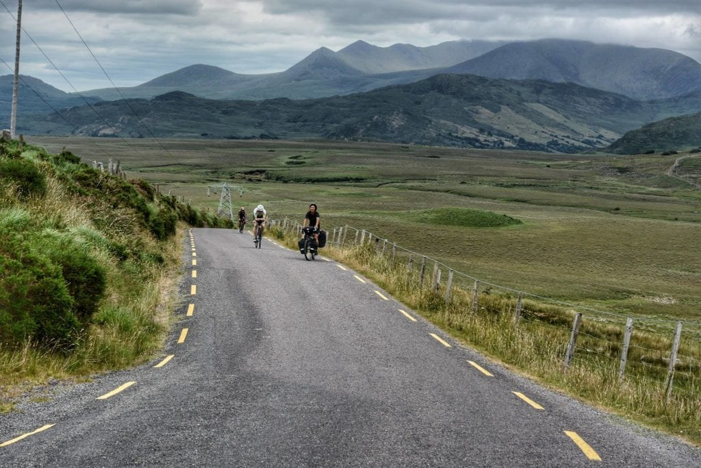 ring of kerry in bicicletta