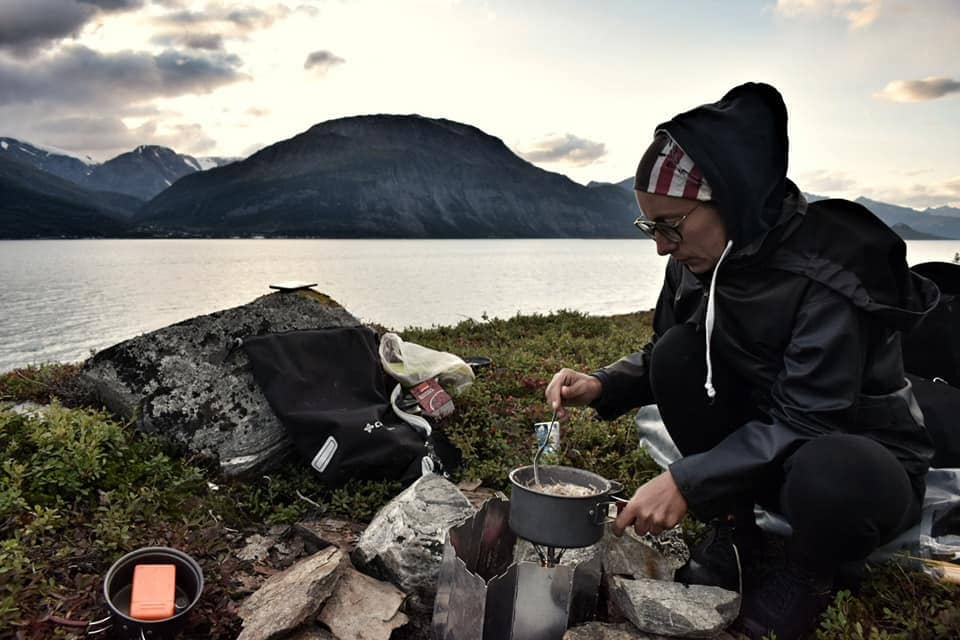 camping and cooking in norway