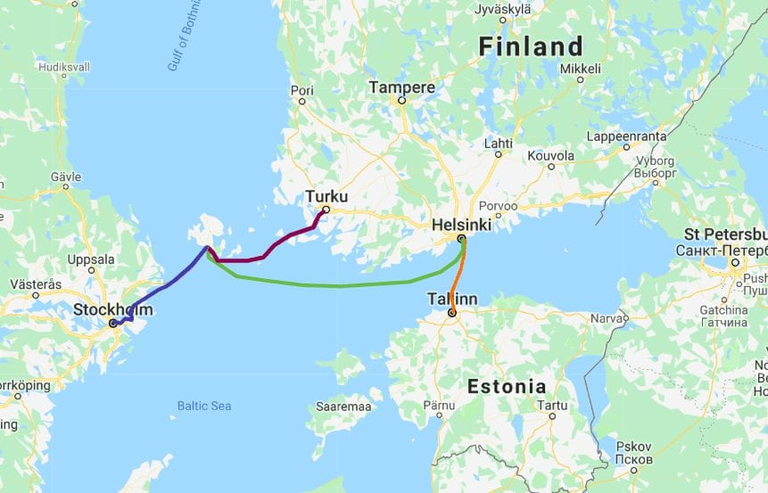 helsinki tallinn baltic sea ferry routes