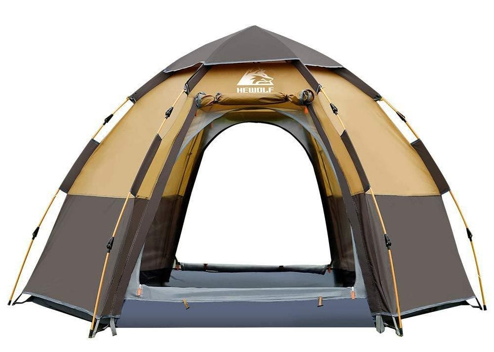 Hewolf Camping Tents 2-4 Person instant tent