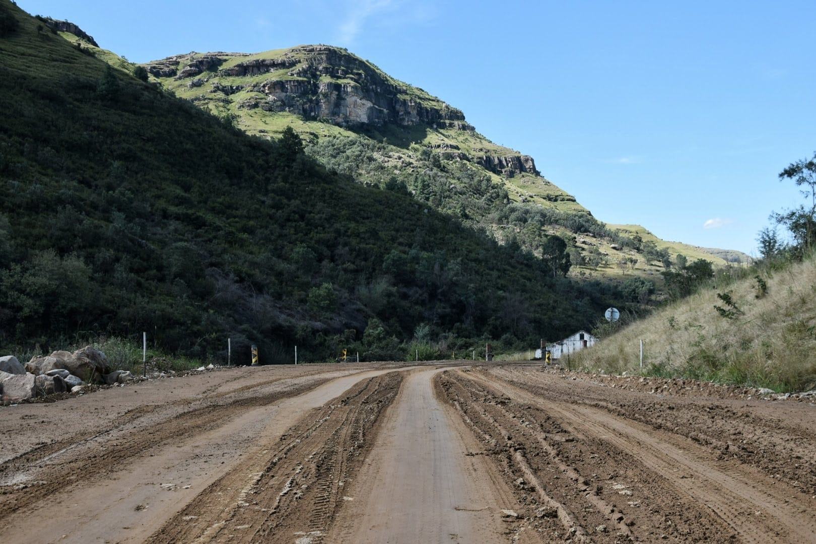 Sani Pass Road construction