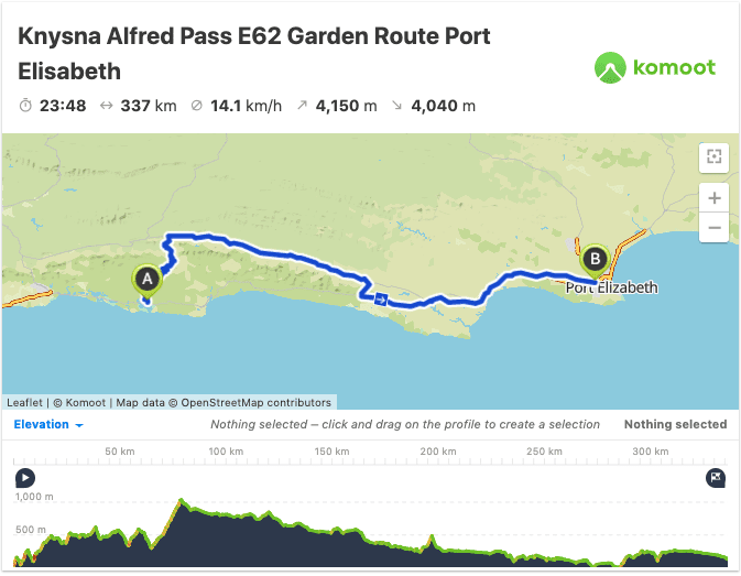 prins alfred pass route map