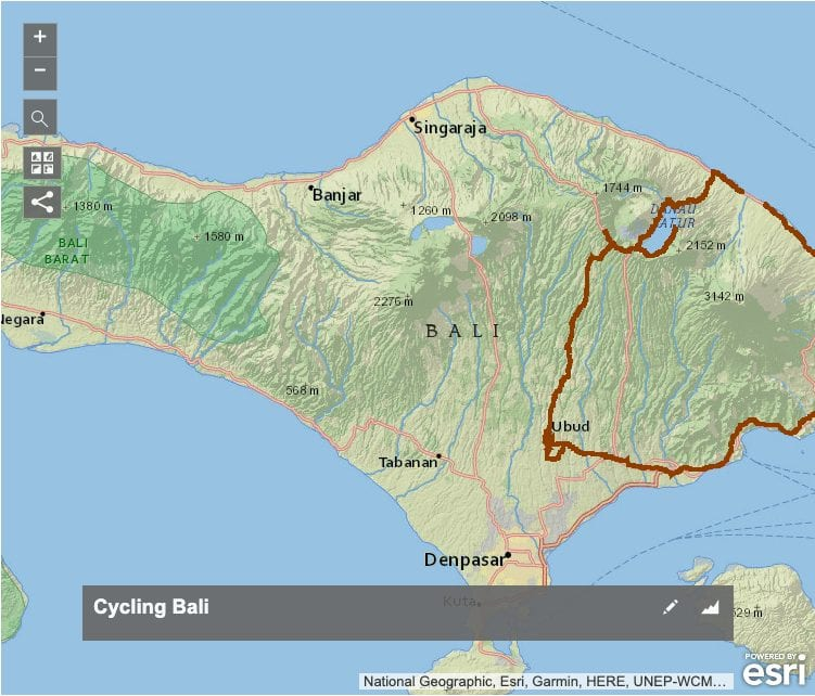 Cycling Bali GPX Map