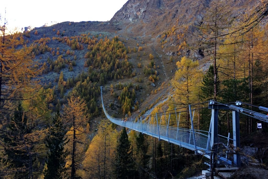 hiking Charles Kuonen Suspension Bridge