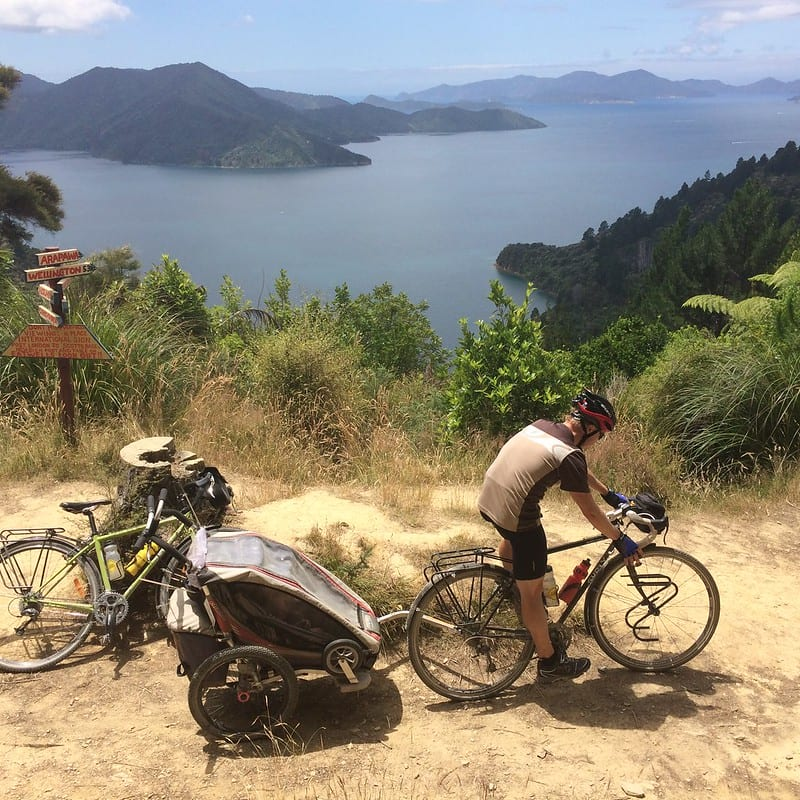 Queen Charlotte Track by bicycle